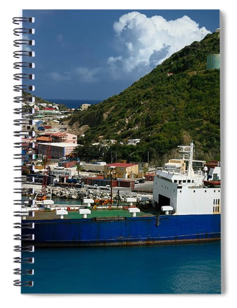 Container Ship St Maarten Spiral Notebook