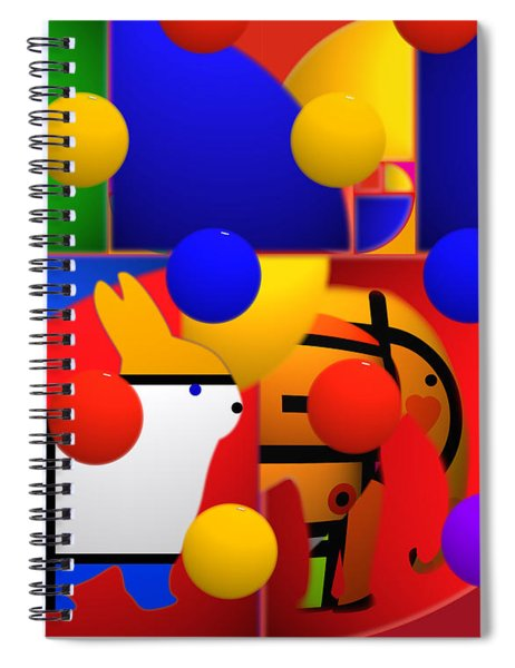 Contemporary Art Spiral Notebook