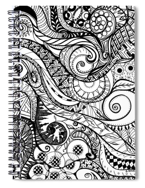 Controlled Chaos Spiral Notebook