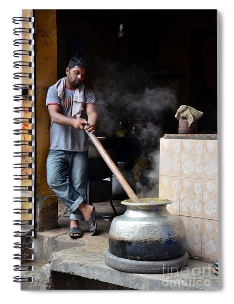 Cooking Breakfast Early Morning Lahore Pakistan Spiral Notebook