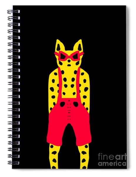 Cool For Cats In Red Dungarees Spiral Notebook
