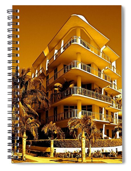 Cool Iron Building In Miami Spiral Notebook