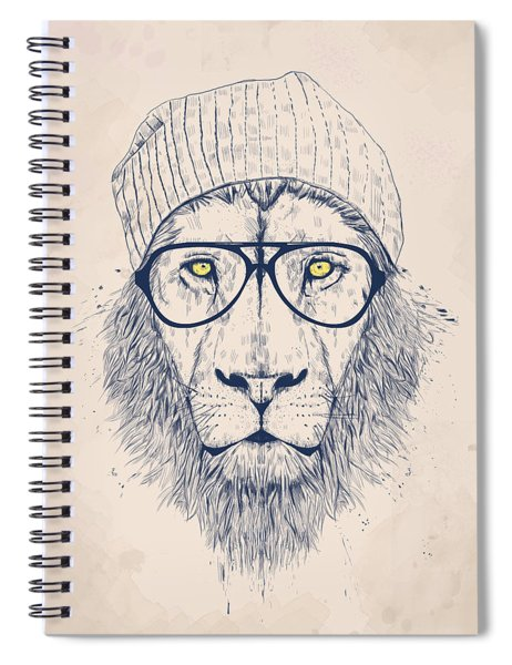 Cool Lion Spiral Notebook by Balazs Solti