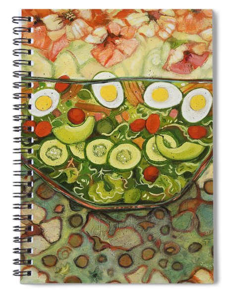 Cool Summer Salad Spiral Notebook