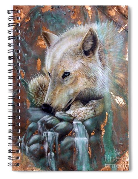Copper Arctic Wolf Spiral Notebook