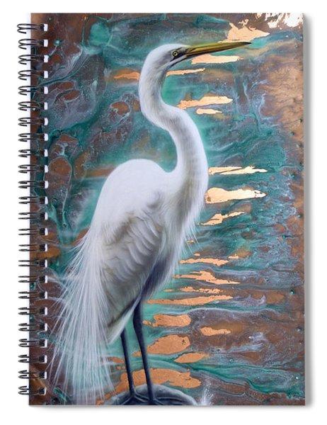 Copper Egret Spiral Notebook