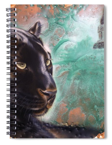 Copper Jaguar Spiral Notebook