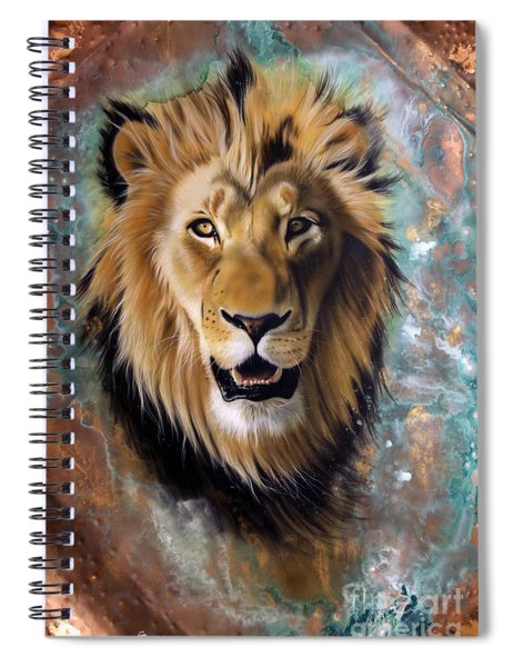 Copper Majesty - Lion Spiral Notebook