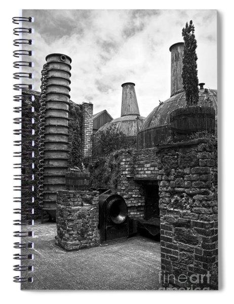 Copper Pot Stills And Column Still At Lockes Distillery Bw Spiral Notebook