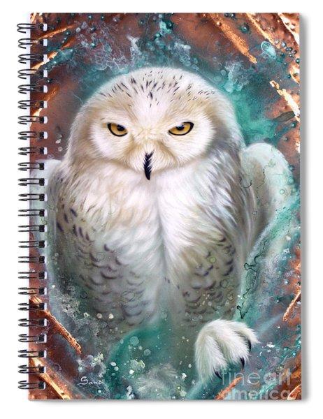 Copper Snowy Owl Spiral Notebook