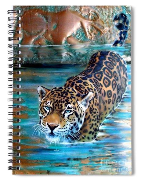 Copper - Temple Of The Jaguar Spiral Notebook