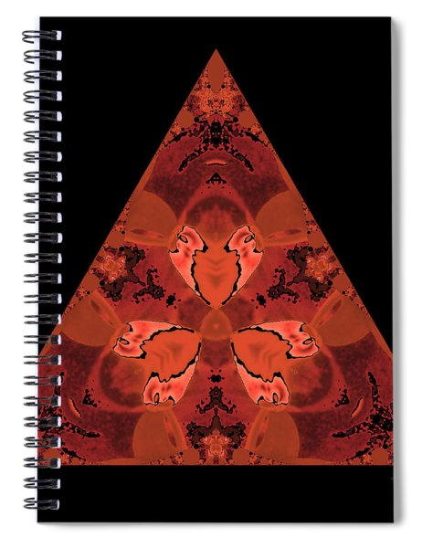 Copper Triangle Abstract Spiral Notebook