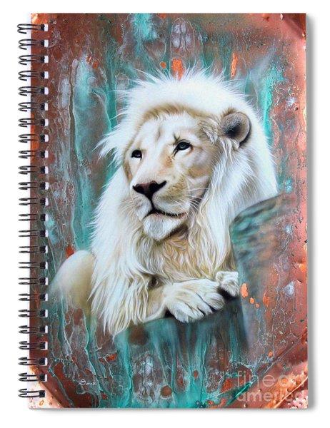 Copper White Lion Spiral Notebook