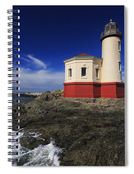Coquille River Lighthouse 3 Spiral Notebook
