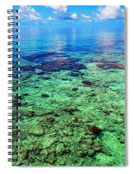 Coral Reef Near The Island At Peaceful Day. Maldives Spiral Notebook