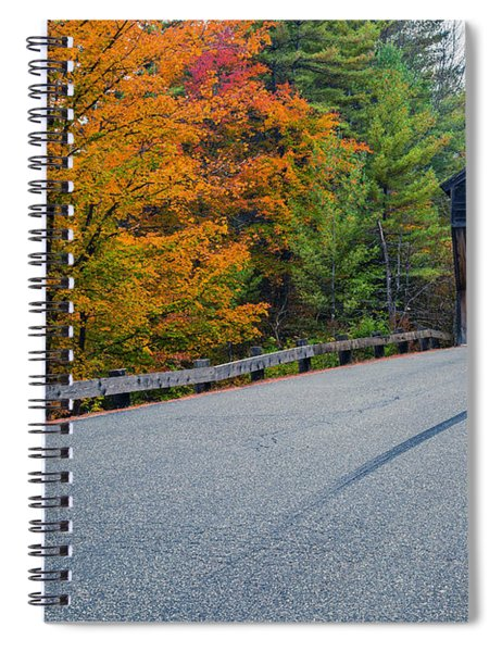 Corbin Covered Bridge New Hampshire Spiral Notebook