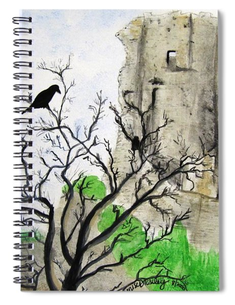 Corfe Castle And Crow Spiral Notebook