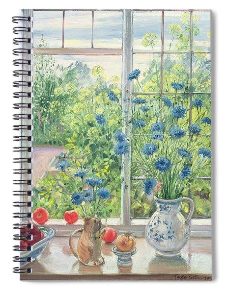 Cornflowers And Kitchen Garden Spiral Notebook