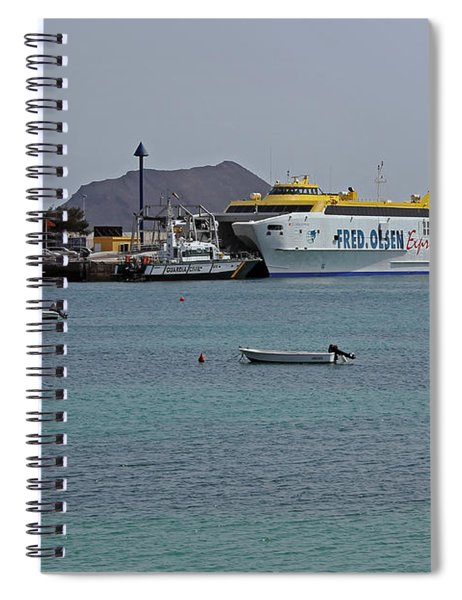 Corralejo Harbour Spiral Notebook