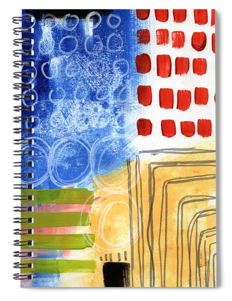 Corridor- Colorful Contemporary Abstract Painting Spiral Notebook