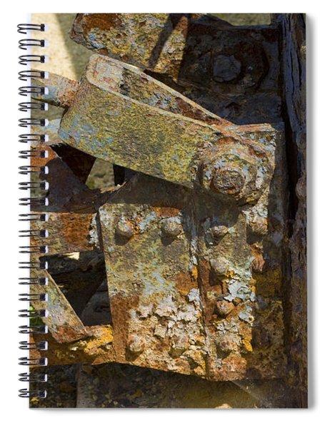 Corroded Steel Spiral Notebook