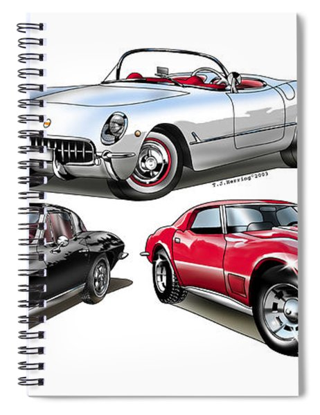 Corvette Generation Spiral Notebook