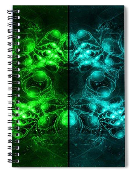 Cosmic Alien Eyes Pride Spiral Notebook