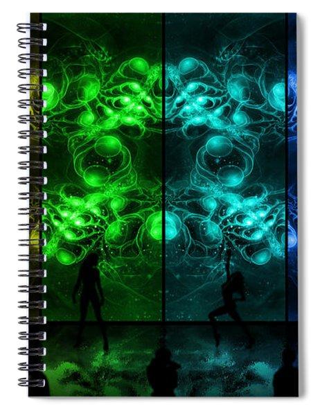 Cosmic Alien Vixens Pride Spiral Notebook