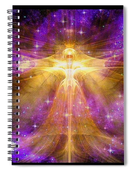 Cosmic Angel Spiral Notebook