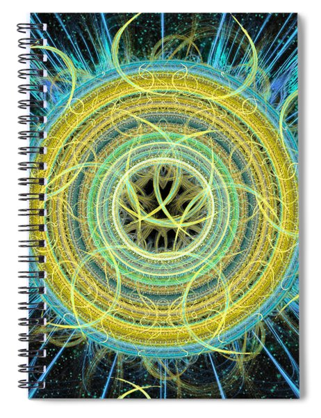 Cosmic Circle Fusion Spiral Notebook