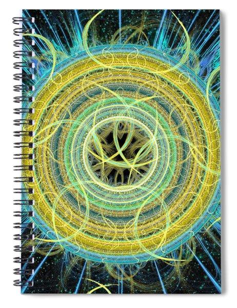 Cosmic Circle Fusion Spiral Notebook