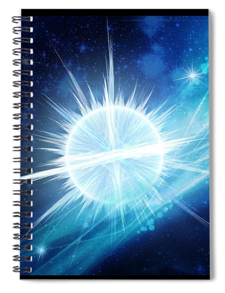 Cosmic Icestream Spiral Notebook