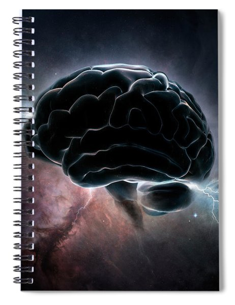Cosmic Intelligence Spiral Notebook