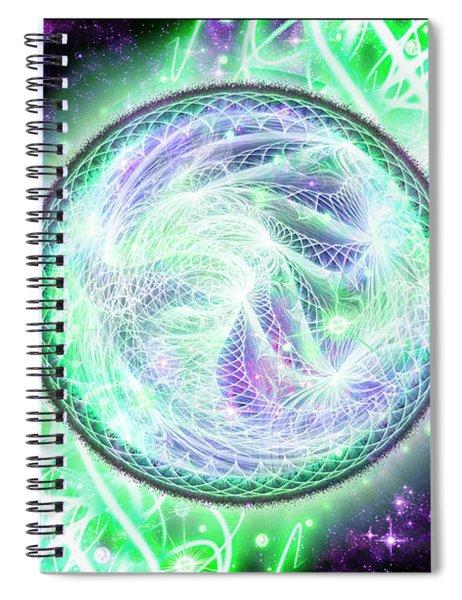 Cosmic Lifestream Spiral Notebook
