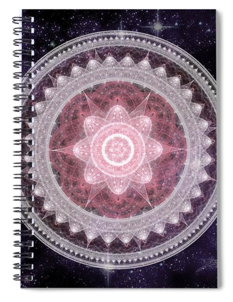 Cosmic Medallions Fire Spiral Notebook