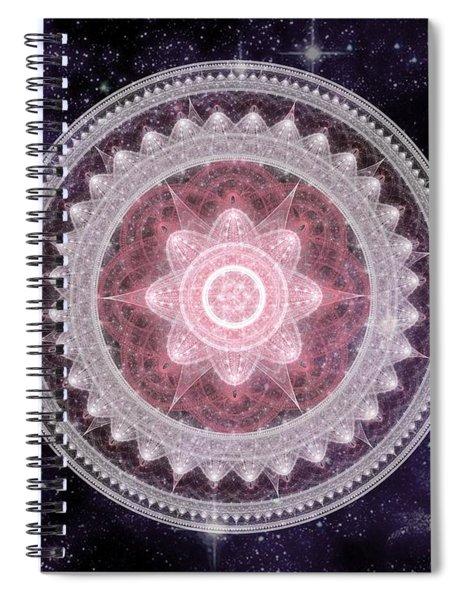 Cosmic Medallions Fire Spiral Notebook