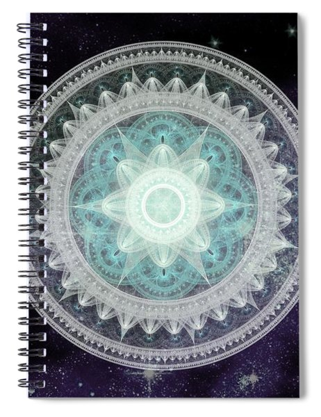 Cosmic Medallions Water Spiral Notebook