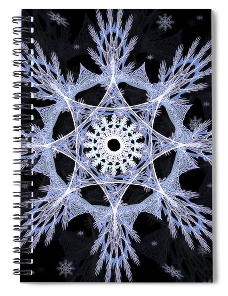 Cosmic Snowflakes Spiral Notebook