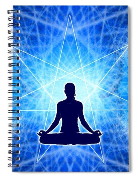 Spiral Notebook featuring the digital art Cosmic Spiral Ascension 22 by Derek Gedney