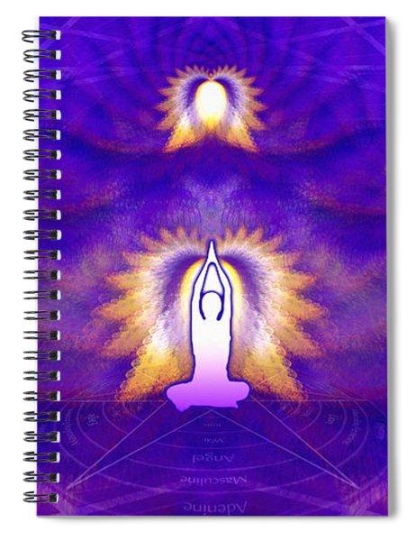 Spiral Notebook featuring the digital art Cosmic Spiral Ascension 31 by Derek Gedney