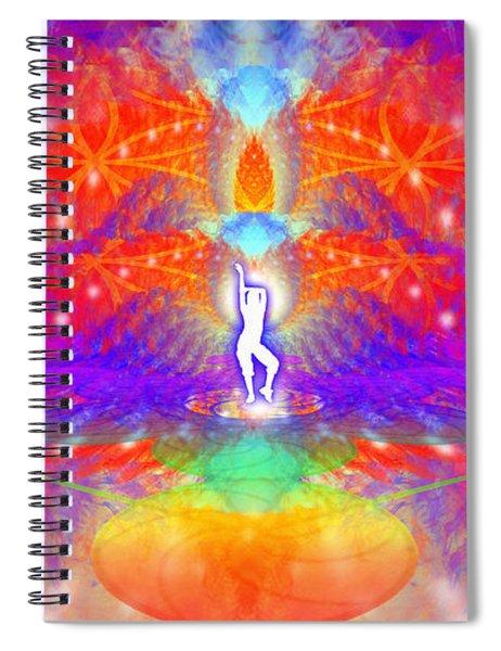 Spiral Notebook featuring the digital art Cosmic Spiral Ascension 53 by Derek Gedney