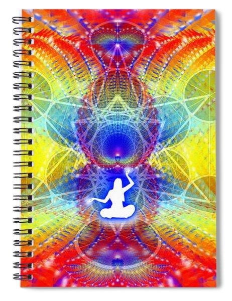 Spiral Notebook featuring the digital art Cosmic Spiral Ascension 56 by Derek Gedney