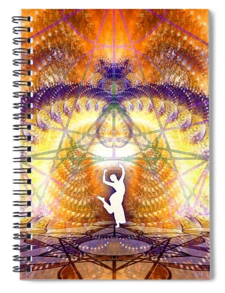Spiral Notebook featuring the digital art Cosmic Spiral Ascension 58 by Derek Gedney