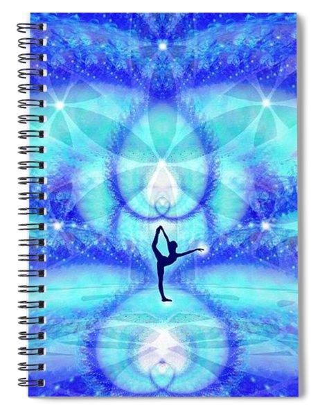 Spiral Notebook featuring the digital art Cosmic Spiral Ascension 65 by Derek Gedney