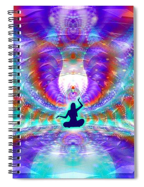 Spiral Notebook featuring the digital art Cosmic Spiral Ascension 71 by Derek Gedney