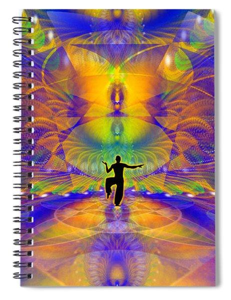 Spiral Notebook featuring the digital art Cosmic Spiral Ascension 73 by Derek Gedney