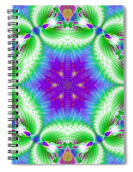Cosmic Spiral Kaleidoscope 10 Spiral Notebook