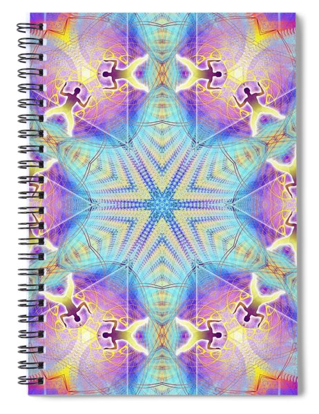 Cosmic Spiral Kaleidoscope 17 Spiral Notebook