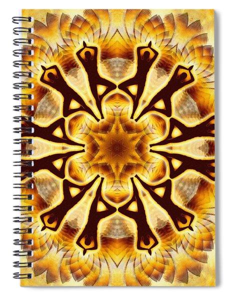 Spiral Notebook featuring the digital art Cosmic Spiral Kaleidoscope 20 by Derek Gedney