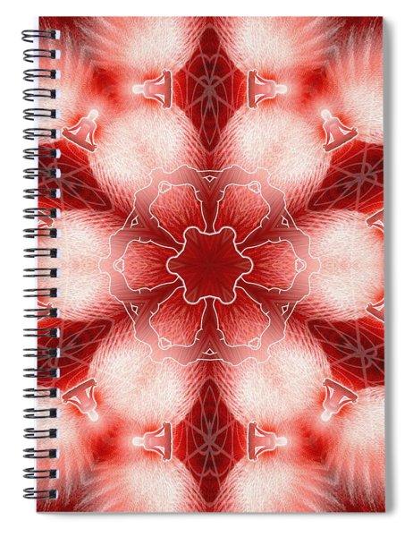 Spiral Notebook featuring the digital art Cosmic Spiral Kaleidoscope 22 by Derek Gedney